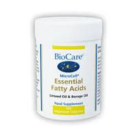Essential Fatty Acids (Linseed Oil & Borage Oil) by BioCare  120 Vegetable Capsules